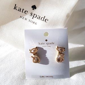 NWT Kate Spade Kitty Cat Studds Earrings